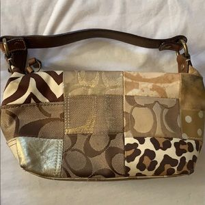 Adorable Coach purse with multiprint design! RARE